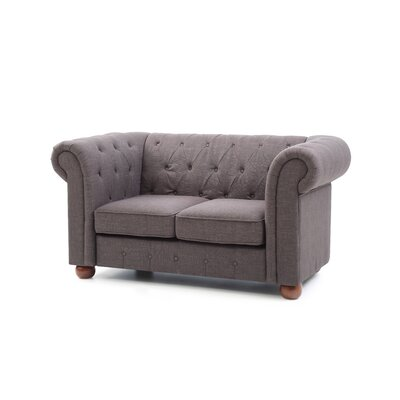 Katherina Chesterfield Loveseat Upholstery: Gray