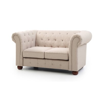 Katherina Chesterfield Loveseat Upholstery: Tan