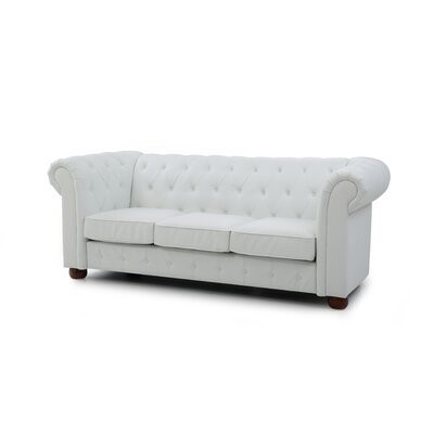 Katherina Chesterfield Sofa Upholstery: White