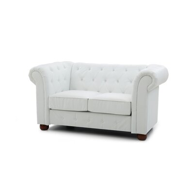 Katherina Chesterfield Loveseat Upholstery: White