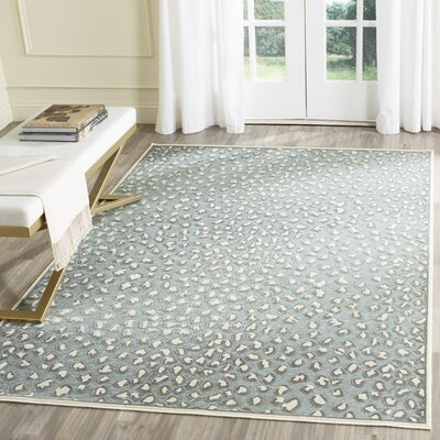 Maspeth Cream/Spruce Area Rug Rug Size: Rectangle 27 x 4