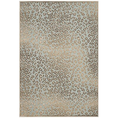 Maspeth Stone/Aqua Area Rug Rug Size: Rectangle 8 x 112