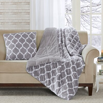 Flannagan Oversized Down Alternative Throw Color: Gray