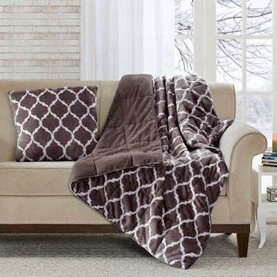 Rosalie Oversized Down Alternative Throw Color: Brown