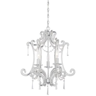 Dowty 3-Light Crystal Chandelier