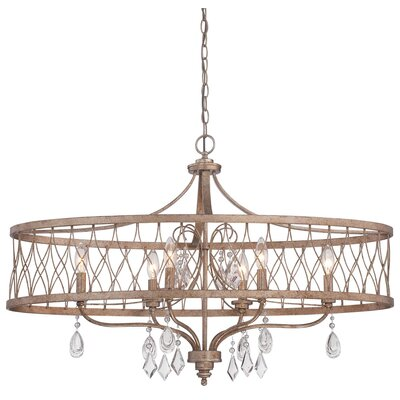 Cece 6-Light Contemporary Drum Chandelier