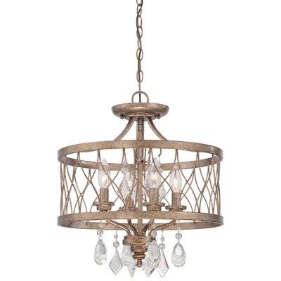 Hambledon 4-Light Drum Chandelier