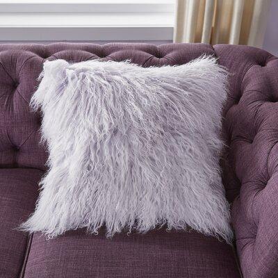 Burel Sheepskin Throw Pillow Color: Lavender