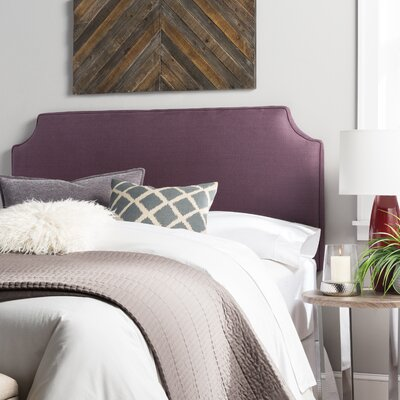 Lesa Upholstered Headboard Size: Queen, Upholstery: Iris Purple