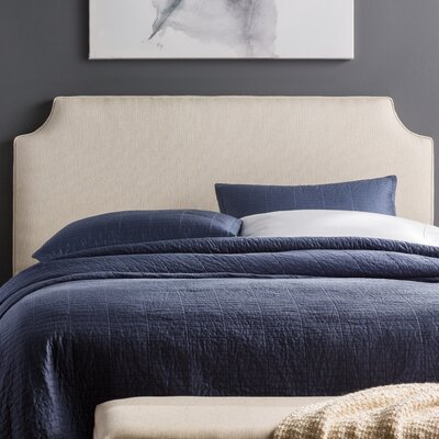 Lesa Upholstered Headboard Size: King, Upholstery: Beige