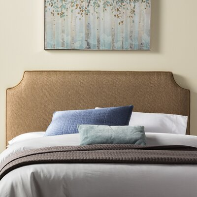 Lesa Upholstered Headboard Size: Queen, Upholstery: Golden Brown