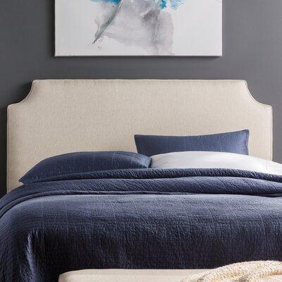 Lesa Upholstered Headboard Size: Full, Upholstery: Ivory