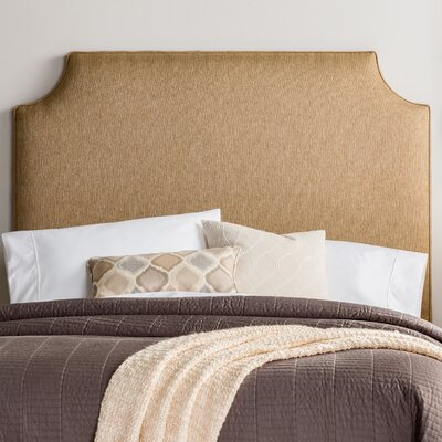 Lesa Upholstered Headboard Size: Full, Upholstery: Golden Brown