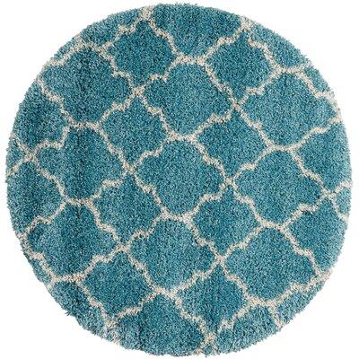 Peridot Aqua Area Rug Rug Size: Round 3'11