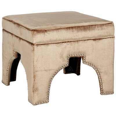 Claribel Storage Ottoman Upholstery: Mink Brown