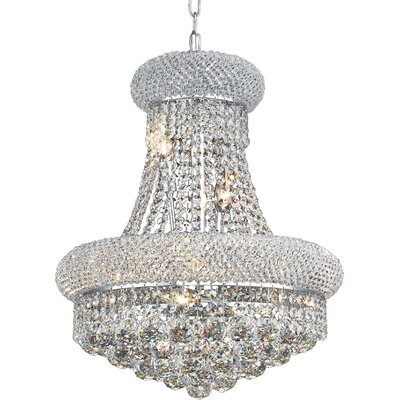 Destanee 8-Light Empire Chandelier Finish: Gold, Crystal Trim: Elegant Cut