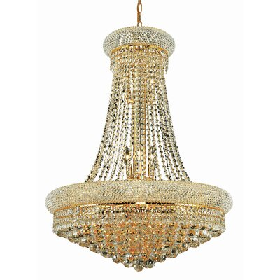 Destanee 14-Light Empire Chandelier Size / Finish / Crystal Trim: 28 / Gold / Elegant Cut