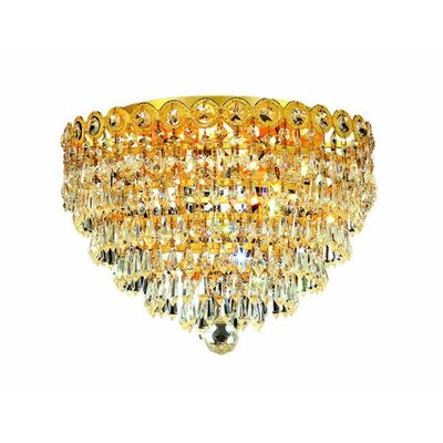 Colne 4-Light 14 Flush Mount Finish: Gold, Crystal Grade: Royal Cut