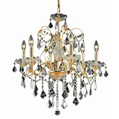 Diogo 6-Light Crystal Chandelier Finish: Gold, Crystal Trim: Spectra Swarovski