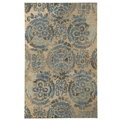 Abbott Blue/Cream Area Rug Rug Size: 8 x 10