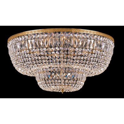 Milan 24-Light Flush Mount Crystal Grade: Swarovski Strass