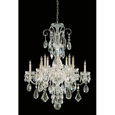 Milan 12-Light Crystal Chandelier Finish: Polished Brass