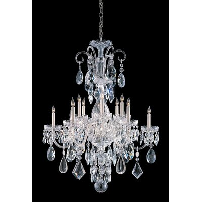 Milan 12-Light Crystal Chandelier Finish: Chrome