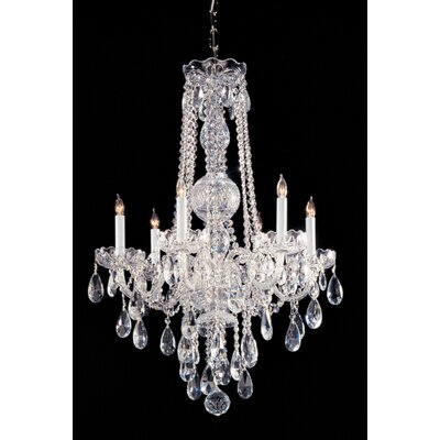 Caledonian 22 Crystal Chandelier Crystal Type: Majestic Wood Polished, Finish: Chrome
