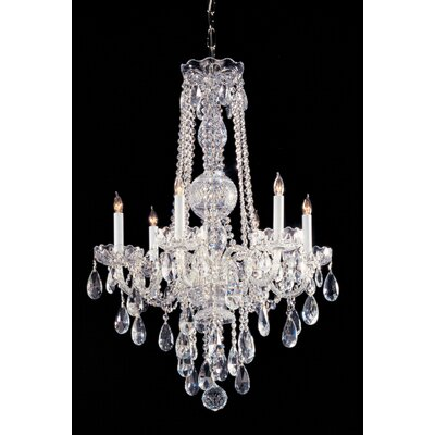 Caledonian 22 Crystal Chandelier Crystal Type: Swarovski Strass, Finish: Chrome