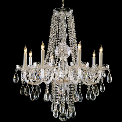 Milan 8-Light Crystal Chandelier Crystal Type: Majestic Wood Polished, Finish: Chrome