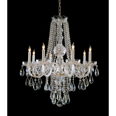 Milan 8-Light Crystal Chandelier Finish: Polished Brass, Crystal Type: Swarovski Spectra