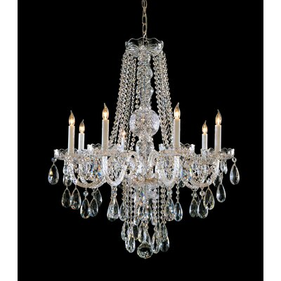 Milan 8-Light Crystal Chandelier Crystal Type: Swarovski Spectra, Finish: Chrome