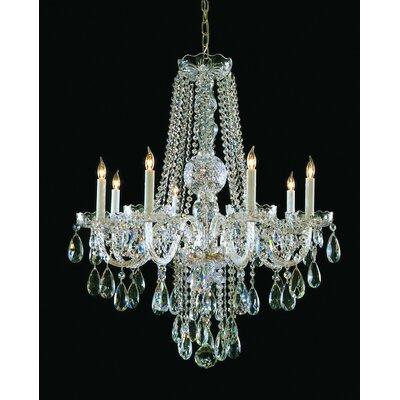 Milan 8-Light Crystal Chandelier Finish: Polished Brass, Crystal Type: Swarovski Strass