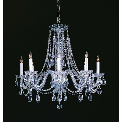 Milan 8-Light Crystal Chandelier Crystal Type/Finish: Majestic Wood Polished/Chrome