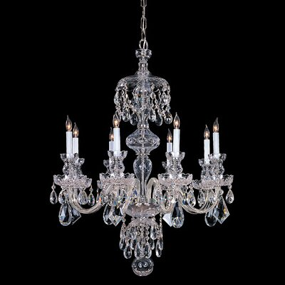 Milan 8-Light Crystal Chandelier Finish: Chrome, Crystal Type: Swarovski Spectra