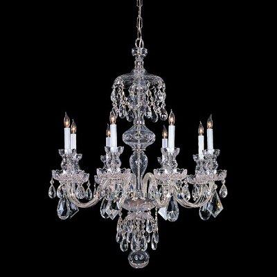 Milan 8-Light Crystal Chandelier Finish: Chrome, Crystal Type: Swarovski Strass