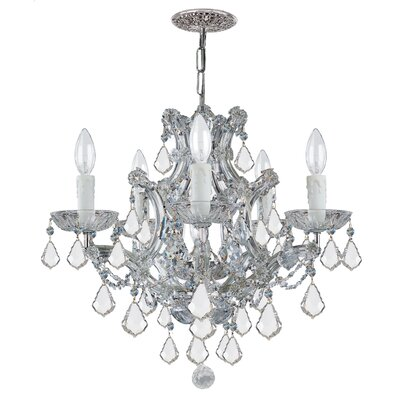 Caledonian 6-Light Crystal Chandelier Crystal Type: Swarovski Spectra, Finish: Silver