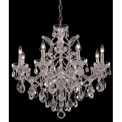 Milan 9-Light Crystal Chandelier Finish/Crystal: Silver/Swarovski Spectra