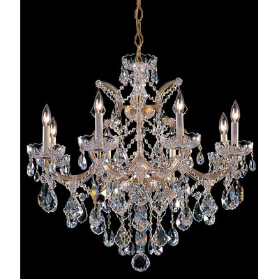 Milan 9-Light Crystal Chandelier Finish/Crystal: Gold/Swarovski Strass