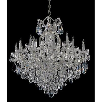 Milan 19-Light Crystal Chandelier Finish: Chrome, Crystal Type: Majestic Wood Polished