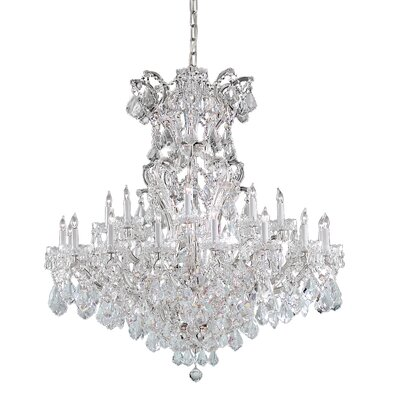 Milan Crystal Chandelier Finish: Chrome, Crystal Type: Majestic Wood Polished