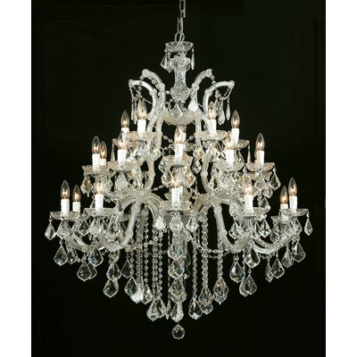 Milan Crystal Chandelier Crystal Type/Finish: Swarovski Strass/Gold