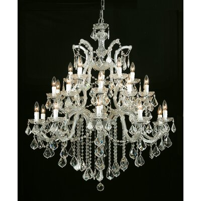 Milan Crystal Chandelier Crystal Type/Finish: Majestic Wood Polished/Gold
