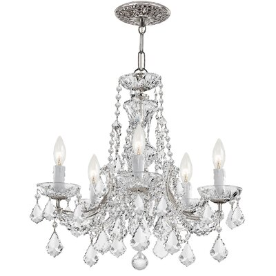 Milan 5-Light Crystal Chandelier Crystal Type/Finish: Swarovski Strass/Chrome
