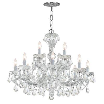 Milan 12-Light Crystal Chandelier Crystal Type/Finish: Majestic Wood Polished/Chrome