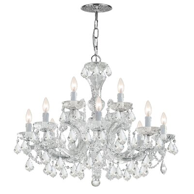 Milan 12-Light Crystal Chandelier Crystal Type/Finish: Swarovski Strass/Chrome