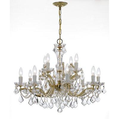 Milan 12-Light Crystal Chandelier Crystal Type/Finish: Swarovski Strass/Gold