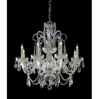 Milan Crystal Chandelier Crystal Type: Swarovski Spectra, Finish: Polished Brass