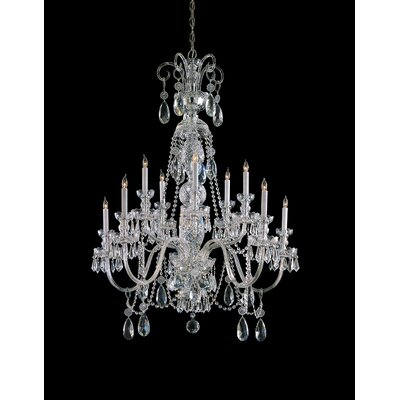 Caledonian 10-Light Crystal Chandelier Crystal Type: Swarovski Spectra, Finish: Chrome