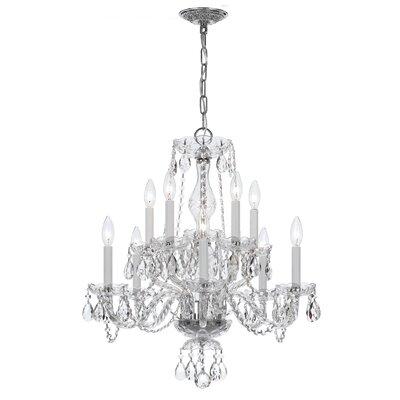Milan 10-Light Candle-Style Chandelier Crystal Type/Finish: Swarovski Strass/Chrome